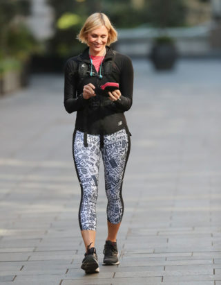 Jenni Falconer in Leggings Leaves Smooth Radio in London