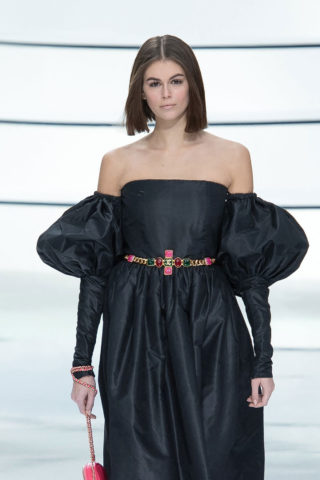 Kaia Gerber Walks the runway during the Chanel Ready to Wear Fashion Show in Paris