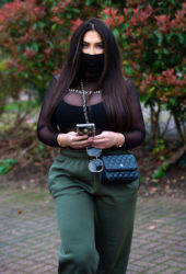 Lauren Goodger Wears Face Mask Out in Essex