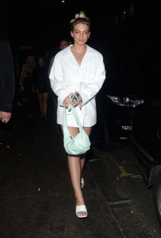 Louisa Johnson Leaving the Sintallite Party in London