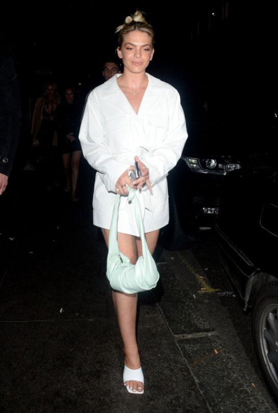 Louisa Johnson Leaving the Sintallite Party in London
