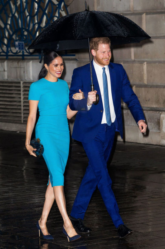 Meghan Markle and Prince Harry at Endeavour Fund Awards 2020 in London
