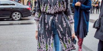 Street Style - Olivia Palermo Arrives at Giambattista Valli Fashion Show in Paris