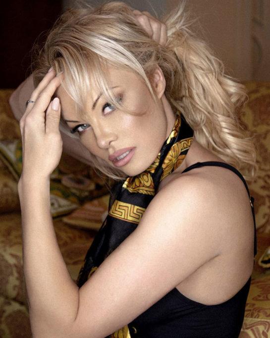 Pamela Anderson for Versace