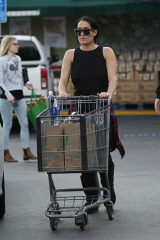 Pregnant Nikki Bella Shopping candids at Whole Foods in Sherman Oaks
