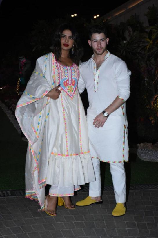 Priyanka Chopra and Nick Jonas attended Isha Ambani's Holi party in Mumbai