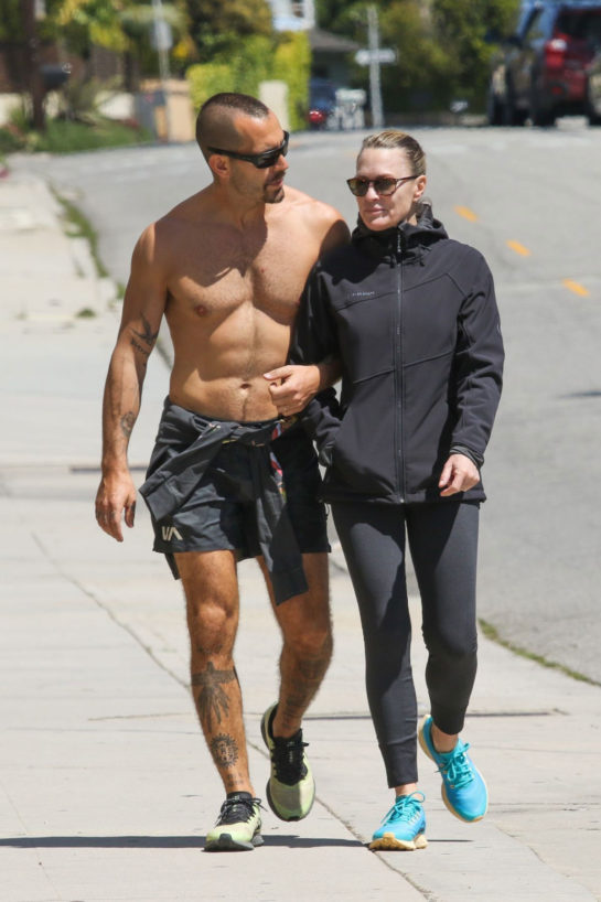 Robin Wright and Clement Giraudet out in Santa Monica