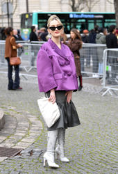 Victoria Pedretti Arriving at Miu Miu Show at Paris Fashion Week