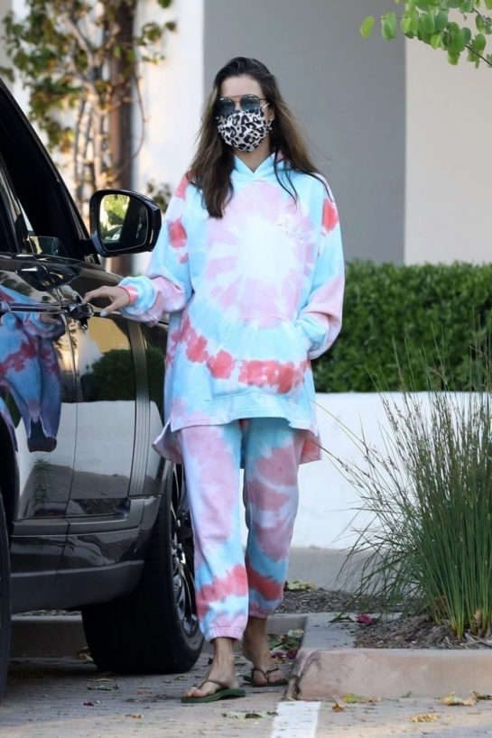 Alessandra Ambrosio she stepped out for groceries in Malibu