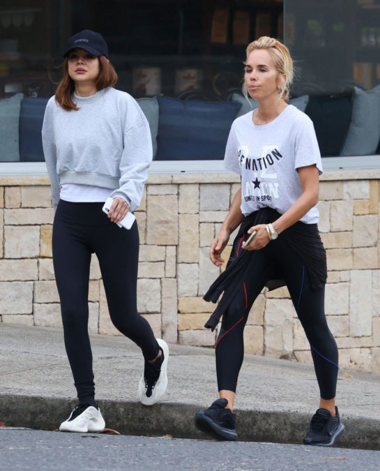 Christine Centenera and Pip Edwards they stepped out for a stroll in Sydney's Rose Bay