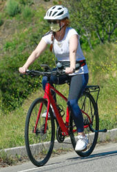 Isla Fisher Ridinig a Bike Out in Los Angeles