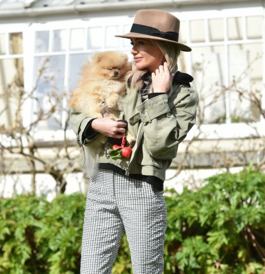Laura Anderson Out with Her Dog in Richmond