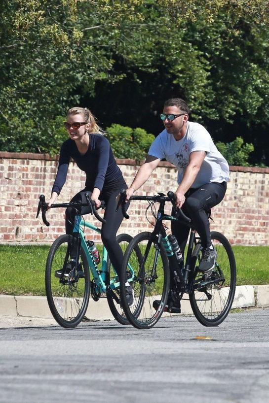 Mia Goth and Shia LaBeouf Bike Ride in Pasadena