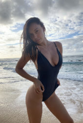 Alexis Ren in Swimsuit at a Beach Instagram photos