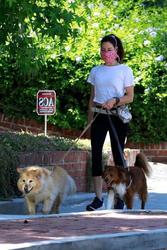 Aubrey Plaza Walking her dogs in Los Feliz