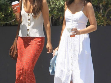 Camilla Belle steps out for a stroll with a friend in West Hollywood