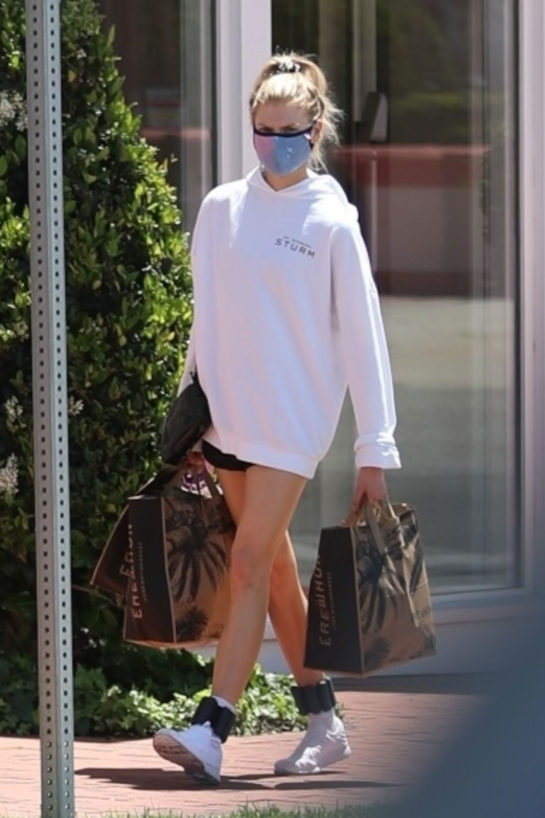 Charlotte McKinney Shopping at Erewhon Market in Pacific Palisades
