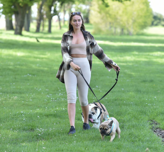 Chloe Ross Takes her dogs for a walk in Chigwell