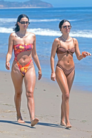 Delilah Belle and Amelia Hamlin in a Bikinis at a Beach in Malibu