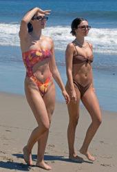 Delilah Belle and Amelia Hamlin in a Bikinis at a Beach in Malibu