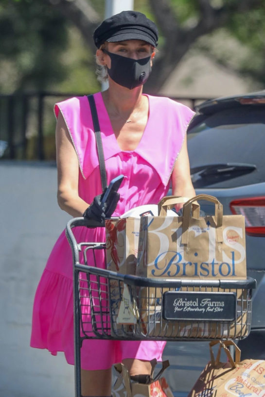Diane Kruger Shopping at Bristol Farms in Beverly Hills
