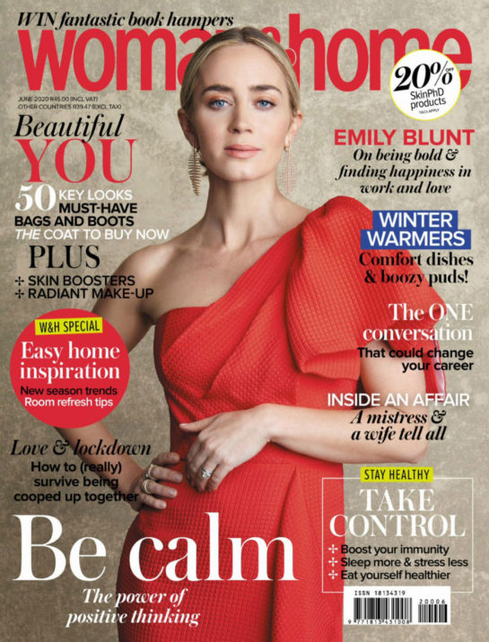 Emily Blunt in Woman & Home Magazine, South Africa June 2020