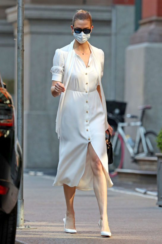 Karlie Kloss Wearing Mask Out in New York