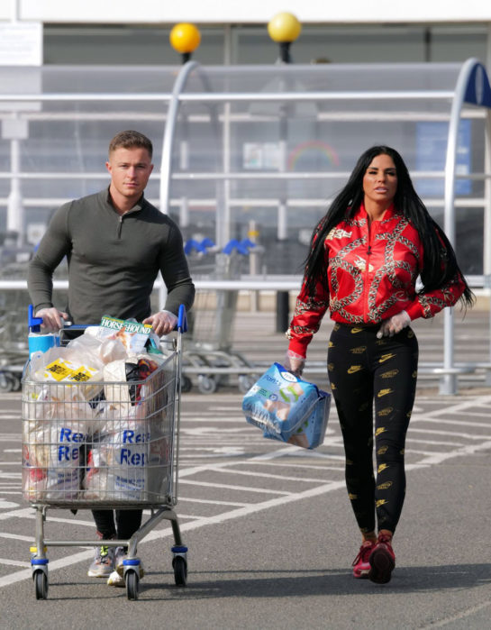 Katie Price and Al Warrell Out Shopping in Surrey