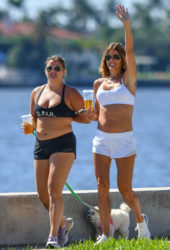 Kelly Bensimon With Her Daughter in Palm Beach