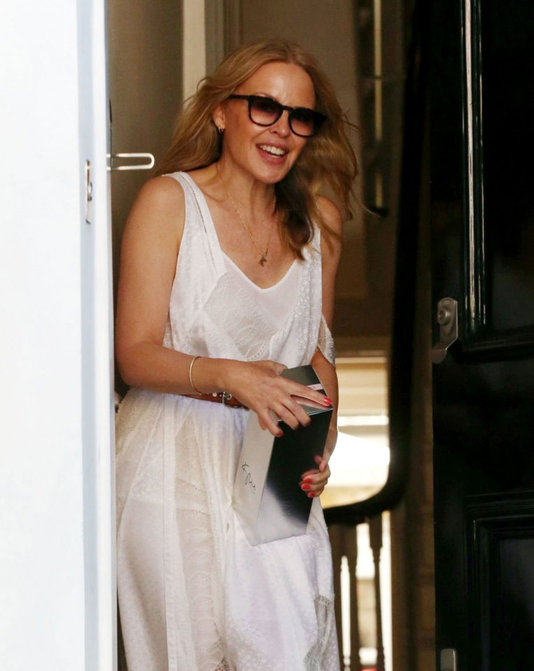 Kylie Minogue at Her Home in London