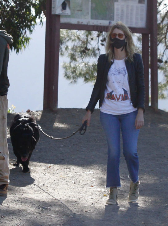 Laura Dern Out with Her Dog in Pacific Palisades