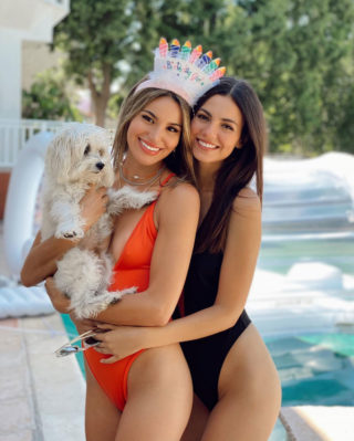 Victoria Justice and Madison Reed in Swimsuits – Instagram photos