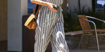 Street Style - Alessandra Ambrosio Arrives to DermaCare Facial Clinic spa in Woodland Hills