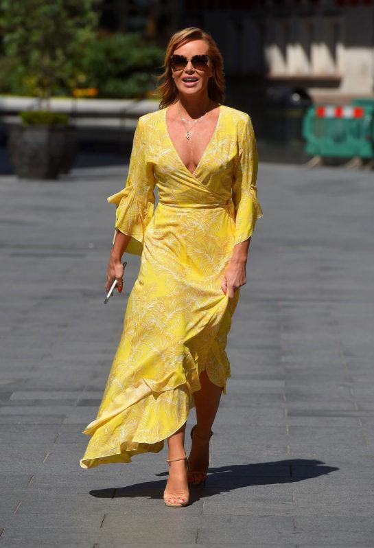 Amanda Holden Leaving Global Studios in London