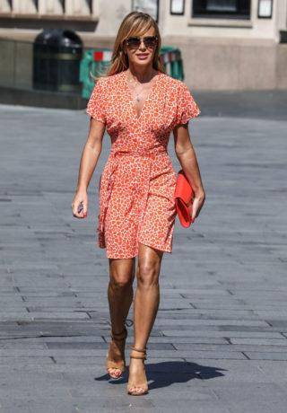 Amanda Holden in a Mini Dress Leaves Heart Radio in London