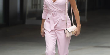 Amanda Holden leaving the Global Radio Studios in London, UK