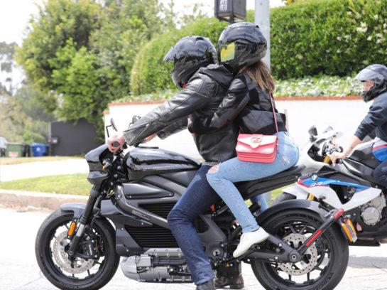 Ana De Armas out cruising with Ben Affleck on his Harley-Davidson motorcycle