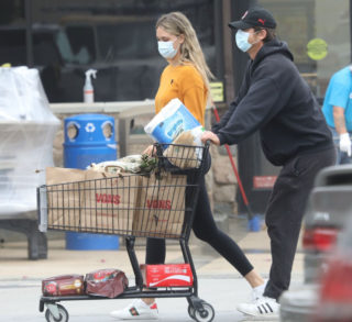 April Love Geary Out Shopping in Malibu