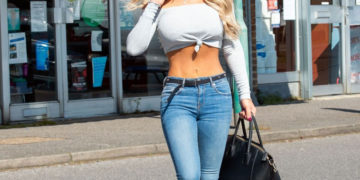 Bianca Gascoigne Shopping at a Pharmacy in Kent