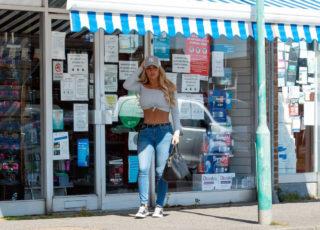 Bianca Gascoigne Shopping at a Pharmacy in Kent