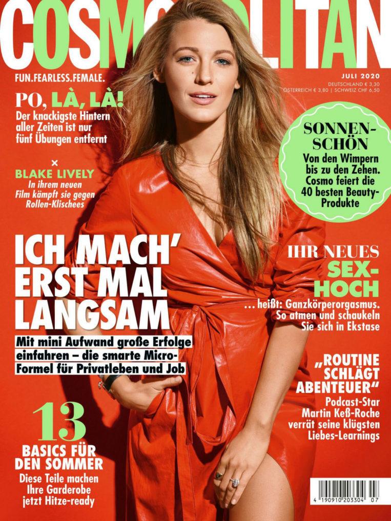 Blake Lively in Cosmopolitan Magazine, Germany July 2020