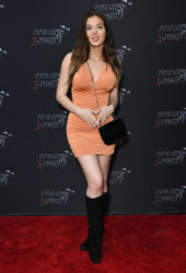 Brighton Sharbino at the FIRST red carpet since Corona of Paparazzi X Posed in Studio City