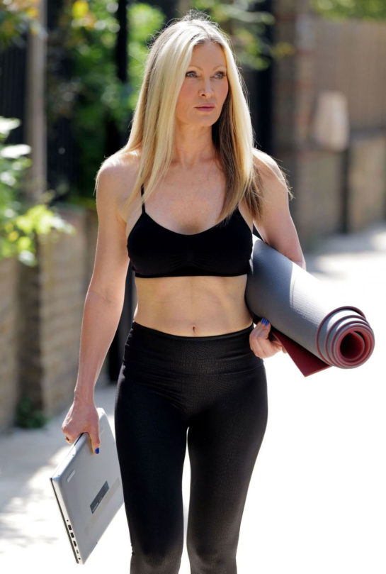 Caprice Bourret Streaming Her Online Yoga Classes from a Park in London