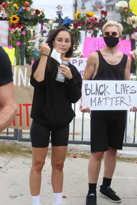 Cara Santana at a peaceful Breonna Taylor protest in Los Angeles