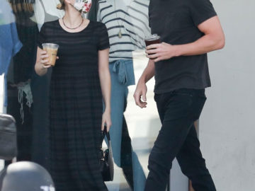 Emma Roberts and Garrett Hedlund at Larchmont Village in Los Angeles