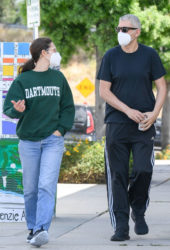 Emmy Rossum and Sam Esmail Out for a walk in Toluca Lake