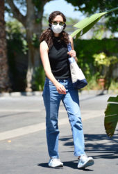 Emmy Rossum in Denim Out in Los Angeles