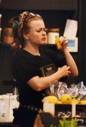 Helena Bonham Carter at a Juice Shop in London