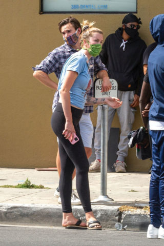 Ireland Baldwin at a Protest in Los Angeles