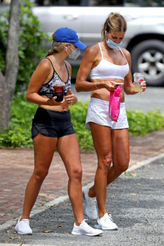 Kelly Bensimon Out with Friend in The Hamptons